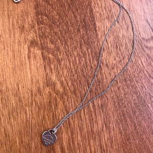 Tiffany & Co. mini heart tag necklace.